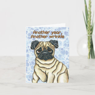 Pug Birthday Cards