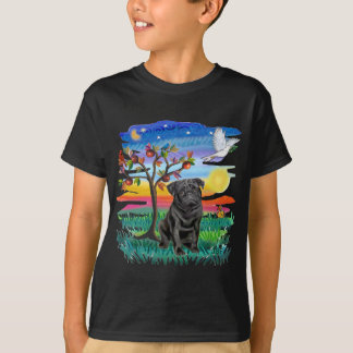 Pug (black) T-Shirt