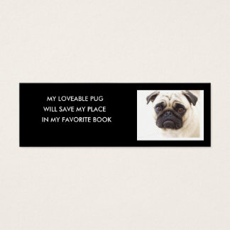 Pug Bookmark.. Mini Business Card