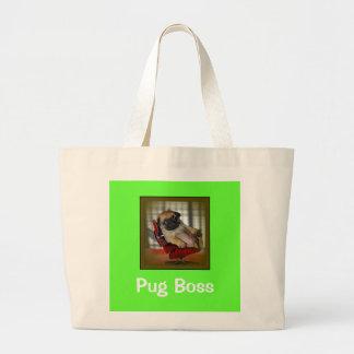 Pug Boss Jumbo Tote Bag