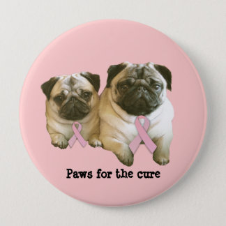 Pug  Breast Cancer Button