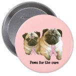 Pug  Breast Cancer Button