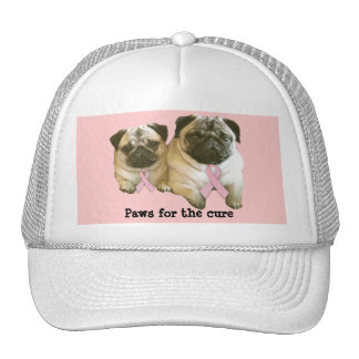 Pug  Breast Cancer Hat