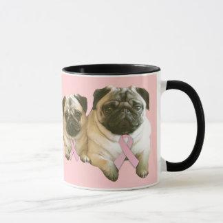 Pug  Breast Cancer Mug