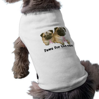 Pug  Breast Cancer Pet Clothing