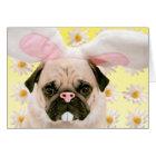 Pug Bunny Ears Card