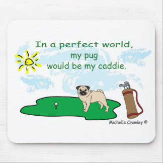 pug caddie -more breeds mouse pad