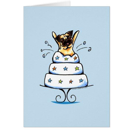 Pug Cake Trick Card
