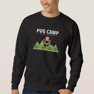 Pug Camp Men's Dark Colored Sweatshirt