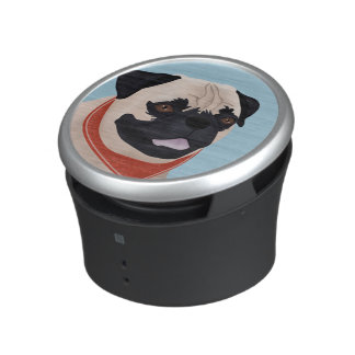 Pug Cartoon Bluetooth Speaker