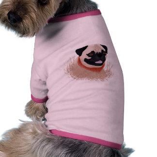 Pug cartoon doggie tshirt