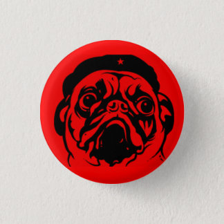 Pug Che 3 Cm Round Badge