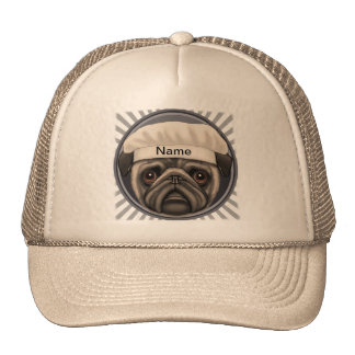 Pug Chef Mesh Hats