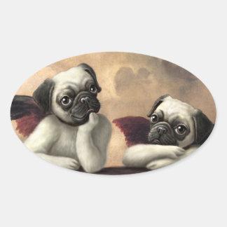 Pug Cherubs Inspired by Raphael Sticker