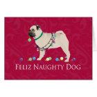 Pug Christmas Design Card