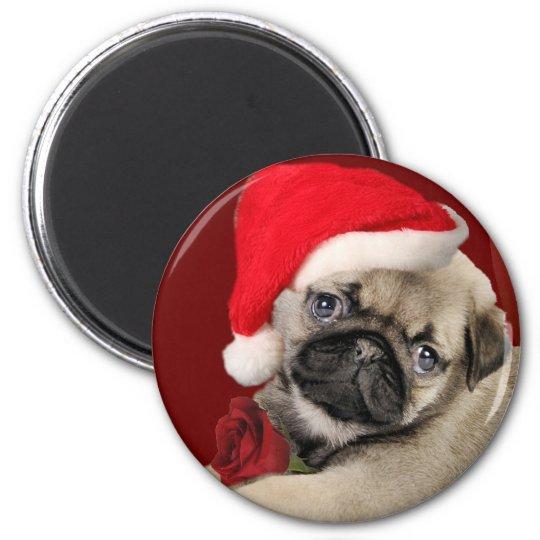 Pug Christmas Holiday Magnets