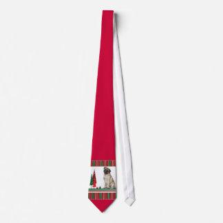 Pug Christmas Tie