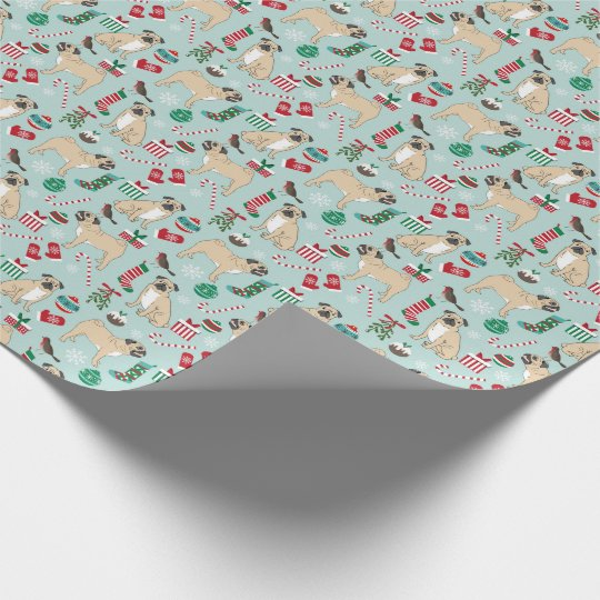 Pug christmas wrapping paper
