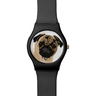 Pug clock/black watches