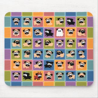 Pug Color Square Mousepad