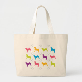 Pug Colors Hearts and Stars! Bags