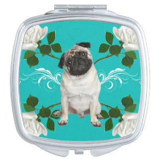 Pug Compact Mirror For Makeup
