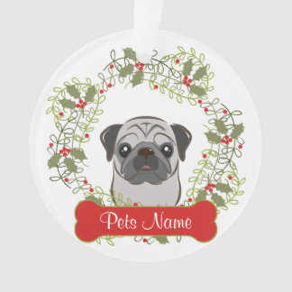Pug Customizable Ornament
