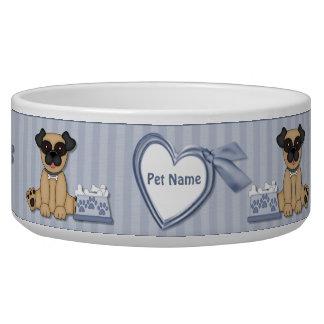 Pug Cuties Blue Stripe - Customize