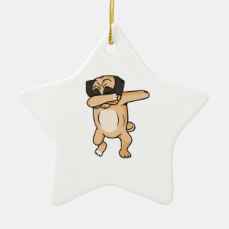 Pug Dab Christmas Ornament