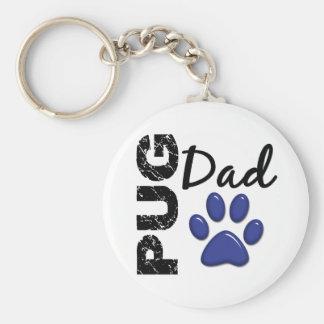 Pug Dad 2 Keychain