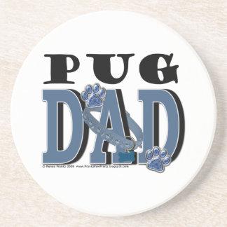 Pug DAD Beverage Coasters