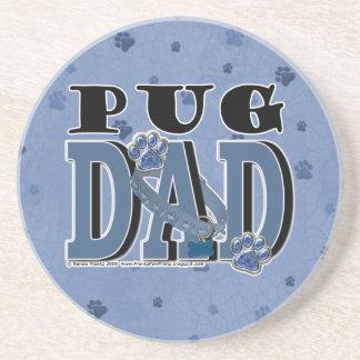 Pug DAD Drink Coasters