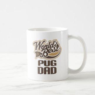 Pug Dad (Worlds Best) Basic White Mug