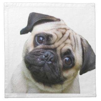 """""""Pug"""" design cloth napkins"""