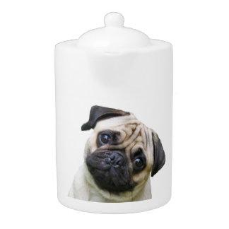 """Pug"" design teapots"