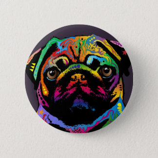 Pug Dog 6 Cm Round Badge