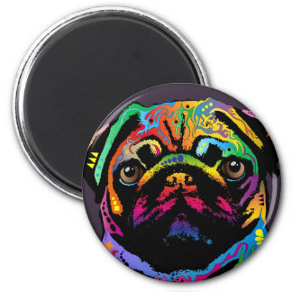 Pug Dog 6 Cm Round Magnet
