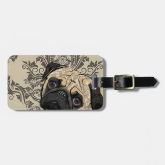 Pug Dog Abstract Pet Pattern Print Luggage Tag