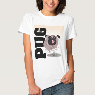 Pug Dog Art T Shirt