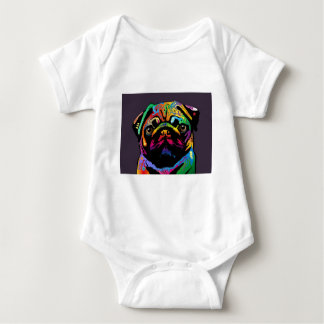 Pug Dog Baby Bodysuit