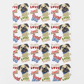 Pug Dog Best Friend Baby Blanket