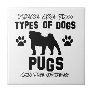 Pug dog breed designs ceramic tiles