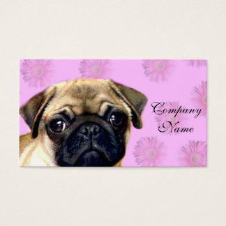Pug dog business card
