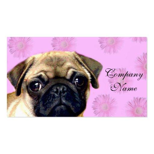 Pug dog business card templates