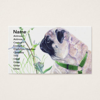 Pug Dog Business Cards