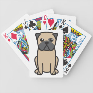 Pug Dog Cartoon Bicycle Playing Cards