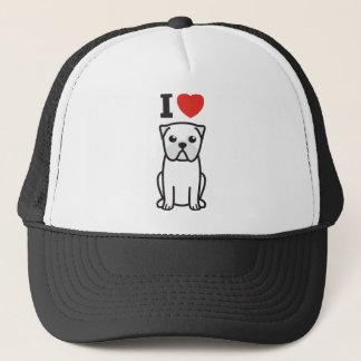 Pug Dog Cartoon Trucker Hat