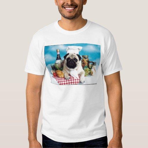 Pug Dog Chef T Shirts