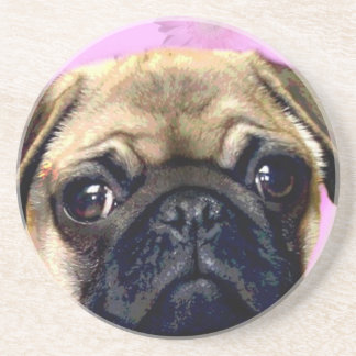 Pug dog drink coasters