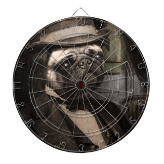 Pug Dog Dapper Gent Dartboard